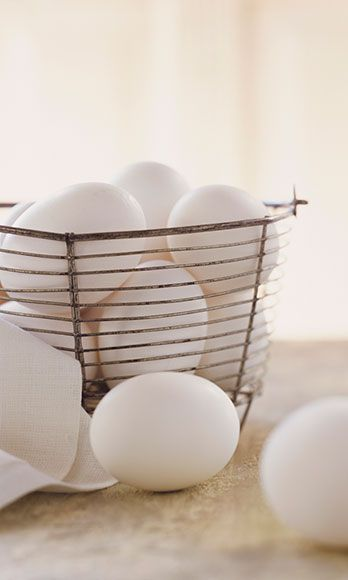 """<p>An excellent (an inexpensive) source of protein, Gans says you can go hog-wild with as many egg whites a week as your heart desires. As for the egg yolks, one a day is a-okay for <a href=""""http://www.cosmopolitan.com/advice/health/new-weight-loss-studies"""" target=""""_blank"""">sticking to your diet plan</a>.</p>"""