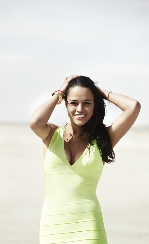 "<p>The part Puerto Rican/Dominican badass proves why she deserves to be our biggest action hero and a CFL cover girl. Read her interview on p. 76 of our summer issue. Get a sneak peek <a href=""http://cosmopolitan.com/cosmo-latina/michelle-rodriguez-cosmo-for-latinas-summer-2013-cover#slide-1"" target=""_blank"">here</a>.</p>"