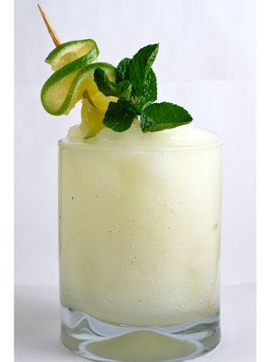 <p>This frosty remix of Brazil's national cocktail will cool you down after a steamy samba session with your guy.</p> <p>1 ounce cachaça (such as Pitú)<br /> 2 ounces fresh lime juice<br /> 1⁄2 teaspoon fresh lime zest (optional)<br /> 1 ounce simple syrup<br /> 3 cups ice cubes mint and lime, for garnish directions</p> <p>Combine all ingredients in a blender and blend until frosty and thick. Serve immediately, garnished with mint and lime wheel.</p>