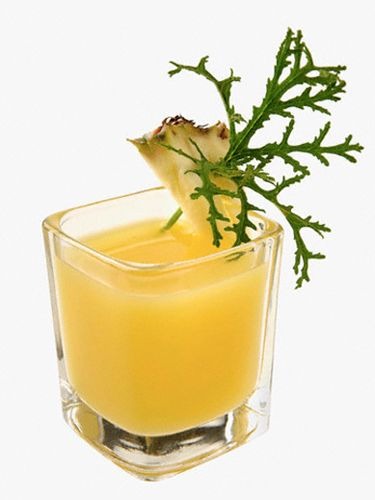 """<i>2 oz. pineapple juice<br />1 oz. coconut water<br />1 oz. white rum</i><br /><br />Combine all ingredients in a glass filled with ice and stir.<br /><br /> <i>Source: <a href=""""http://www.tastenirvana.com/"""" target=""""_blank"""">Taste Nirvana</a></i>"""