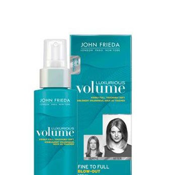 """<p>Few things are hotter than lush, bountiful, sex-mussed hair – and this volumizing mist makes the look easy to achieve. Simply spritz onto damp roots, comb through, and then flip your head upside down and blowdry. Voila, instant Victoria's Secret Angel hair.</p><p>John Frieda Luxurious Volume Fine to Full Blow Out Spray, $8, <a href=""""http://www.drugstore.com/john-frieda-luxurious-volume-fine-to-full-blow-out-spray/qxp471701"""" target=""""_blank"""">drugstore.com</a></p>"""