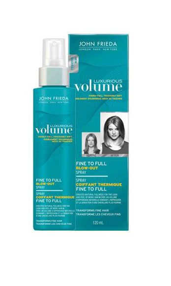 "<p>Few things are hotter than lush, bountiful, sex-mussed hair – and this volumizing mist makes the look easy to achieve. Simply spritz onto damp roots, comb through, and then flip your head upside down and blowdry. Voila, instant Victoria's Secret Angel hair.</p> <p>John Frieda Luxurious Volume Fine to Full Blow Out Spray, $8, <a href=""http://www.drugstore.com/john-frieda-luxurious-volume-fine-to-full-blow-out-spray/qxp471701"" target=""_blank"">drugstore.com</a></p>"