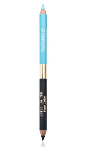 """<p>This dual-ended pencil is so versatile! On one side, there's a cheerful, Tiffany blue hue for brunch with the girls – and on the other, a smoldering, inky-black shade for serious seduction.</p> <p>Estee Lauder Pure Color Intense Kajal EyeLiner Duo in Black/Blue, $23, <a href=""""http://www.esteelauder.com%20"""" target=""""_blank"""">esteelauder.com</a></p>"""