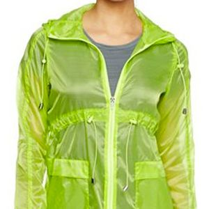 <p>If you're an outdoors <em>chica</em> who likes to chill by the shore or go running, an anorak style is what you need to shield the wind. In a trendy lime hue that's sheer, it's stylishly sexy yet functional.</p>
