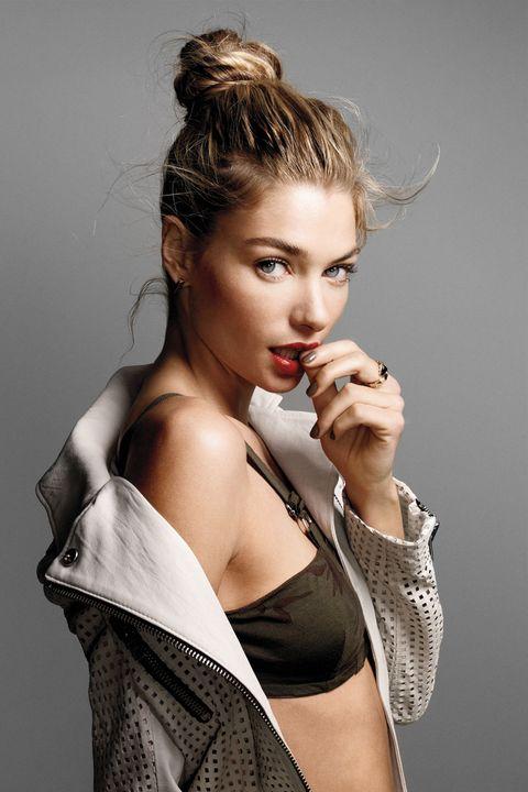 Lip, Hairstyle, Shoulder, Eyelash, Style, Fashion model, Beauty, Fashion, Model, Long hair,