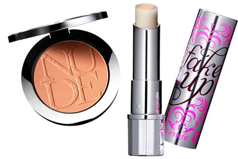 <p>Hide sleep-deprived circles with quenching concealer (sticks are portable). And don't forget bronzer—it helps cancel out beard burn.</p> <p>Dior Nude Tan Sun Powder, $52</p> <p>Benefit Fakeup, $24</p>