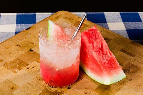 <i>2 oz. Karlsson's Gold Vodka<br> 3 watermelon chunks<br> ¾ oz. lemon juice<br> ½ oz. elderflower liqueur </i><br><br>  Muddle watermelon in the bottom of a glass. Add ice and remaining ingredients. Stir and garnish with a watermelon wedge  <br><br><i>Source: Karlsson's Vodka</i>