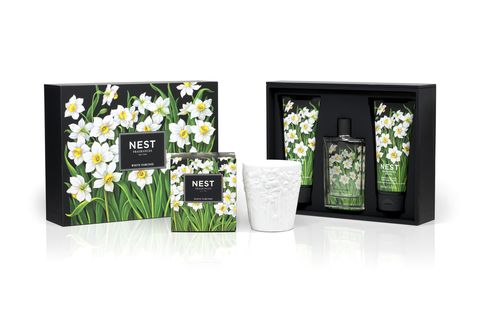 "<p>This give set has everything mom could need for relaxation and primping. The scent by NEST features a white floral scent which contains natural jasmine and narcissus extract. Complete with a candle, body wash, cream, and spray the delicious scent will take over your senses. </p> <p>$98, <a title=""Saks"" href=""http://www.saksfifthavenue.com/main/ProductDetail.jsp?PRODUCT%3C%3Eprd_id=845524446586198&CAWELAID=1915685738&cagpspn=pla&site_refer=GGLPRADS001"" target=""_blank"">Saks</a></p>"