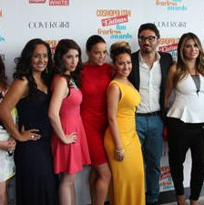 <p>From left to right: Magaly Chocano, Erika Andiola, Shirley Diaz, Michelle Rodriguez, Adrienne Bailon, Al Madrigal, Loren Ridinger and Alexandra Wilkis Wilson. </p>