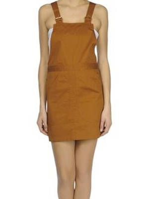 <p>If you are not feeling pant overalls go with this skirt one instead. The color is neutral, which means it goes with pretty much everything.</p>