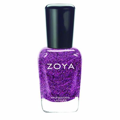 <p>Try pairing this show-stopping, glittery plum polish with tangerine strappy stilettos. Man magnet central.</p>