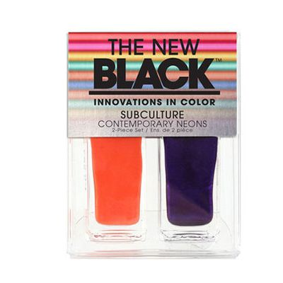 <p>Deepest violet, vivid orange – this polish set makes for a wildly chic mani/pedi situation.</p>