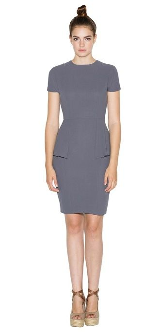 """<p>For those times you need a little sophistication for your look, this peplum dress is great. The color allows for lots of accessories and the short sleeves will protect your shoulders from the sun!</p><p>$155, <a title=""""House of Harlow Dress"""" href=""""http://www.houseofharlow1960.com/caprice-dress/47371-372084%20"""" target=""""_blank"""">House of Harlow</a></p>"""