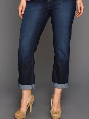 """<p>It's important to realize that not all plus sized bodies are the same, but we found a pair of jeans in size 14+ that works great on all body types. A dark denim rinse helps smooth the frame and displays your lady lumps in sexy and stylish way. And this one has some spandex in it—de nada.</p> <p>$120, <a href=""""http://www.zappos.com/nydj-plus-size"""" target=""""_blank"""">Zappos.com</a><br /><br />Wear it with a <a href=""""http://www.modcloth.com/shop/blouses/calavera-chic-top?ref=1&utm_medium=CJaffiliate&cj_webid=2178999&cj_affname=ShopStyle.com&cj_affid=1909792&cj_linkd=10632182&utm_campaign=CJ&utm_source=CJ&cj_sid=715583255"""" target=""""_blank"""">tee</a> like this ModCloth one and sexy high heels—we love <a href=""""http://www.zara.com/us/en/woman/shoes/high-heel-vamp-shoe-c358009p1328419.html"""" target=""""_blank"""">these</a> from Zara. </p>"""