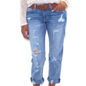 <p>Some may say the world is your oyster but if you'd like to add some curve to your slim frame, distressing on your jeans can help you get there. When placed near the thighs and hips, it can create the illusion of a more stacked frame.</p>