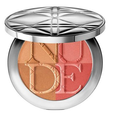 <p>So pretty! The bronzer gives skin a sultry, sunlit radiance, while the blush adds a happy pop of color to your complexion. Blend the two together and let everyone believe you just returned from San Tropez.</p>