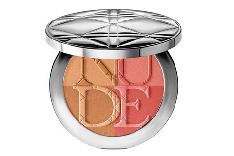 """<p>So pretty! The bronzer gives skin a sultry, sunlit radiance, while the blush adds a happy pop of color to your complexion. Blend the two together and let everyone believe you just returned from San Tropez.</p> <p>Diorskin Nude Tan Paradise Duo in Coral Glow, $56, <a href=""""http://www.sephora.com/diorskin-nude-tan-paradise-duo-P379801?skuId=1506104"""" target=""""_blank"""">sephora.com</a></p>"""