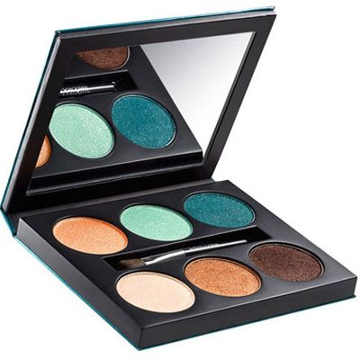 <p>With its lush teals, bronzes, and corals, this limited edition eyeshadow palette looks like Ibiza in a compact! Rock the shades separately or blended together – and pair with a glam caftan and lots of gold jewelry.</p>