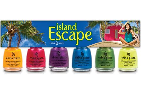 """<p>Besides a hard-bodied guy, the best accessory for a lazy day on the beach is a vibrant, vampy pedicure! This island-ready kit comes with six electric shades that sex-up any skin tone.</p> <p>China Glaze Nail Polish Collection in Island Escape, $15, <a href=""""http://www.amazon.com/China-Glaze-Island-Escape-Collection/dp/B004W5M3LS"""" target=""""_blank"""">amazon.com</a></p>"""