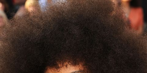 """<p class=""""normal"""">One of the biggest letdowns for coarse textured hair is shrinkage. """"The textured girl needs to make sure her hair is properly moisturized,"""" says celebrity hairstylist Gabrielle Corney who whips the curls of Carol's Daughter founder Lisa Price into shape for on-air appearances at HSN.<span>  </span>She recommends using a good deep conditioner (try <a href=""""http://www.sephora.com/monoi-repairing-hair-mask-P286902?skuId=1341635""""><span style=""""color: #1155cc;"""">Carol's Daughter Monoi Repairing Mask</span></a>, $29) and a daily moisturizer (we love organic coconut oil) to ensure hair is hydrated at all times.</p> <p class=""""normal"""">But here's another tip, """"Duckbill clips (the kind often used at Dominican salons to hold roller sets) are great to use while the hair is wet to elongate the curl."""" Simply twist the hair in sections (the smaller the section, the tighter the curl) and use the duckbill clips down the length of the hair. Once hair is dry, use a pick to separate your curls starting carefully from the root to create a voluminous 'fro like Esperanza Spalding's.</p>"""
