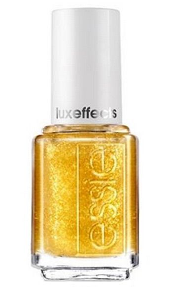 "<p>This sheer top coat is infused with golden sparkles! Layer it on top of your favorite nail color for a dose of glitzy-fab razzmatazz (did we spell that correctly?).</p> <p>Essie Luxeffects Glitter Top Coat in As Good As It Gets, $8, <a href=""http://www.ulta.com/ulta/browse/productDetail.jsp?skuId=2238632&productId=xlsImpprod3970045&navAction=push&navCount=1&categoryId=cat80068#sku2238631"" target=""_blank"">ulta.com</a></p>"