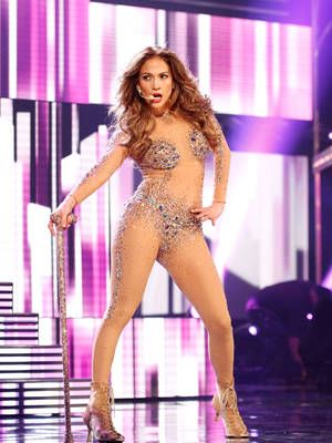 <p>What can be more tempting to the eye than a nude skin-tight body suit. JLo definitely had jaws dropping at the 2011 American Music Awards.</p> <p> </p>