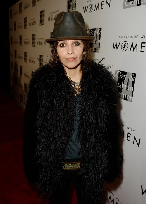 """<p>Linda Perry is pure rock and roll. This part-Brazilian has a long standing musical career, from being the front woman for <em>4 Non Blondes</em> to penning some of today's modern classics like fellow Latina Christina Aguilera's <em>Beautiful</em>. She used her badass musical skills to pop the question to her now fiancé Sara Gilbert by planning a musical picnic in the park. In addition to her musical achievements, she joined forces with the LA Gay and Lesbian Center to organize the event """"An Evening with Women"""" in order to raise money for programs and services for women at the center. <br /><br /></p>"""