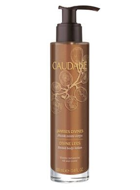 "<p>If you're in a crunch for time, Caudalie's Divine Legs bronzer is the way to go. Just 60 seconds after application it instantly amps up your skin's color. The shimmery lotion works to make legs look toned</p> <p>$38.00, <a href=""http://us.caudalie.com/divine-legs.html"" target=""_blank"">caudalie.com</a></p>"