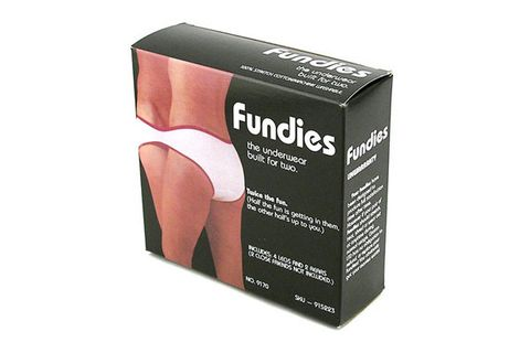 "<p>Two may be better than one…but not when it comes to <a href=""http://www.cosmopolitan.com/celebrity/exclusive/sexy-underwear-commercials?click=main_sr"" target=""_blank"">underwear</a>. Fundies features four sets of leg holes and two rear ends so that you can get closer than you ever even wanted to your man.</p> <p> </p>"