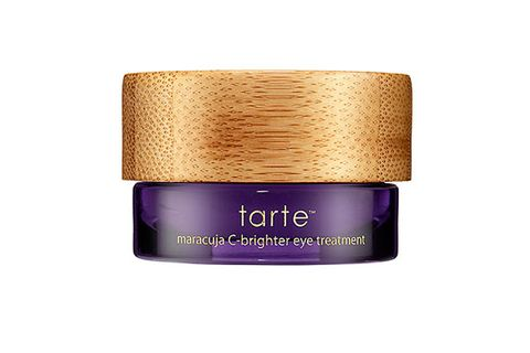 """<p>This luxurious cream instantly revives tired eyes – and brightens dark circles -- with a C-spiked complex. Smells fab, too.</p> <p>Tarte Maracuja C-Brighter Eye Treatment, $38, <a href=""""http://tartecosmetics.com/tarte-item-maracuja-c-brightener-eye-cream?gclid=CL6Xz9bUz7cCFUGk4AodCzYAcQ"""" target=""""_blank"""">tartecosmetics.com</a></p>"""