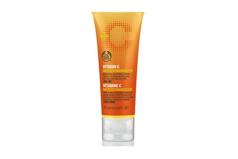 """<p>Ultra-fine exfoliating garnet particles stimulate cell renewal and leave skin incredibly soft and smooth. Contains Amazonian camu camu berry, which is known to have one of the highest contents of vitamin C in nature. Antioxidant Vitamin C encourages production of collagen, improves elasticity and protects against damaging environmental aggressors.</p> <p>The Body Shop Vitamin C Microdermabrasion, $21, <a href=""""http://www.ulta.com/ulta/browse/productDetail.jsp?skuId=2259474&productId=xlsImpprod5190231&navAction=push&navCount=1&subdoc=21bodyshoponlineonly&categoryId=cat80184"""" target=""""_blank"""">ulta.com</a></p>"""
