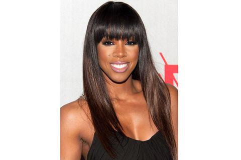 Lip, Brown, Hairstyle, Eyebrow, Style, Step cutting, Black hair, Eyelash, Wig, Bangs,