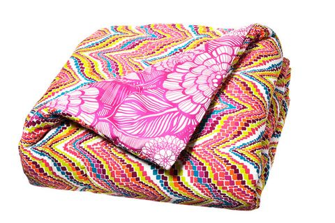 Pattern, Pink, Cushion, Throw pillow, Purple, Orange, Violet, Pillow, Home accessories, Linens,