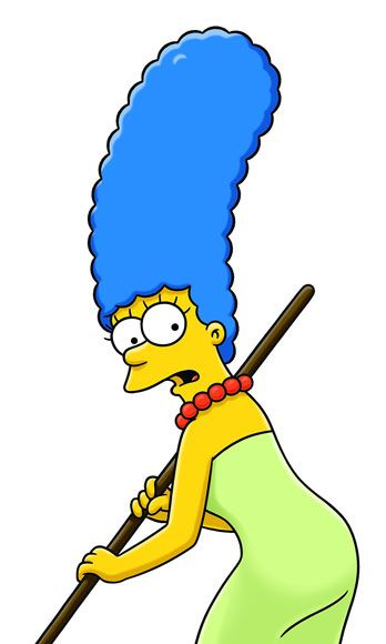 <p>The cartoon matriarch's towering blueberry bouffant is this standard by which all other blue hairstyles should be measured. Got that, Bynes?</p>
