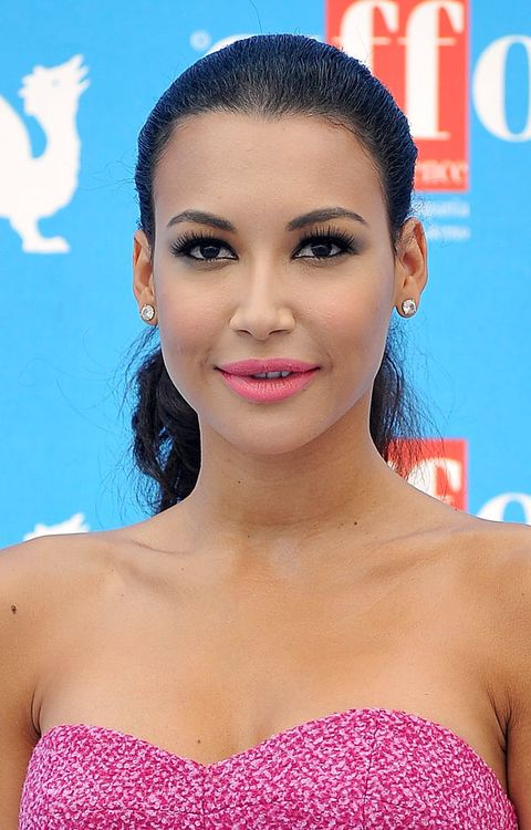 <p>At the Giffoni Film Festival, the <em>Glee</em> star slicked her hair back in a chic pony to put her neon pink lips and spiky lashes on display. Sexy to the max.</p>