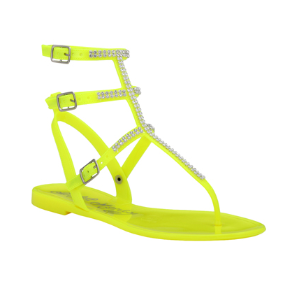 <p>Jelly sandals are back and these Naughty Monkey ones will add the right amount of bling to any outfit</p>