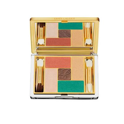 <p>Don't leave for your tropical vacay without packing this palette! For day, blend the pale peach on lids and the coral hue into your crease. For all-night dancing, add a smudge of turquoise along top and bottom lashlines.</p>