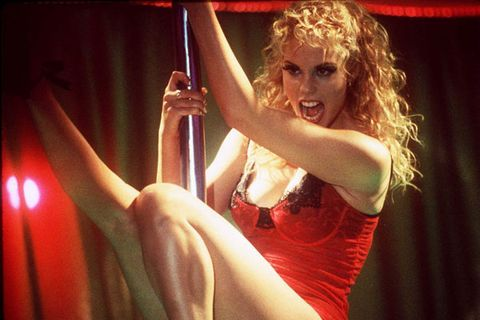 <p>Nomi Malone, <em>Showgirls</em> (1995)<br /> Tight blonde ringlets, high wattage lipgloss, drag queen lashes – who else but Las Vegas' libidinous drifter bitch from hell? So wrong but so, so right.</p>
