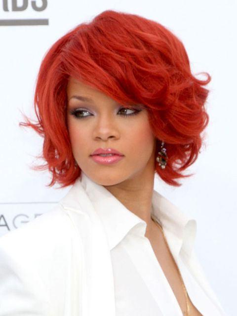 "<p>Before Carly Rae, before Katy Perry, before anyone went for the crimson coif – Riri was there, first. Jessica Rabbit-red is not for the timid, but a more muted auburn is always, <em>always</em> hot.</p> <p>Try: L'Oreal Excellence Triple Protection Color Creme in Dark Auburn, $9, <a href=""http://www.drugstore.com/loreal-excellence-triple-protection-color-creme-haircolor-dark-auburn-4r-warmer/qxp149727?catid=183846"" target=""_blank"">drugstore.com</a></p>"