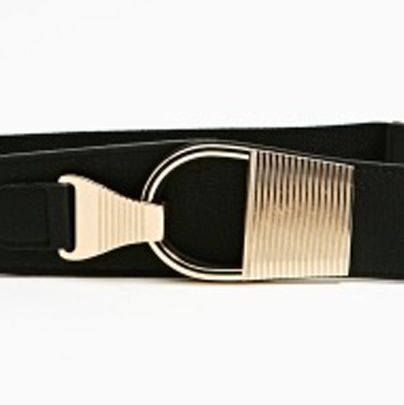 """<p>A belt can add a nice shape defining-look without being overly tight. Go for something medium to wide style, something too thin will make you look ill proportioned.</p><p>$20, <a title=""""nasty gal"""" href=""""http://www.nastygal.com/product/armor-belt/_/searchString/belt%20"""" target=""""_blank"""">Nasty Gal</a>.</p>"""