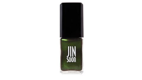 "<p>This steely gray morphs into a bewitching emerald when it catches the light. Wickedly mesmerizing.</p> <p>JINsoon Nail Polish in Epidote, $18, <a href=""http://www.jinsoon.com/catalog/product/view/id/32/s/epidote-new/category/20/"" target=""_blank"">jinsoon.com</a></p>"