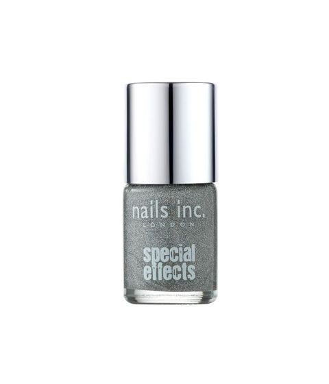 "<p>Sex up your favorite polish with this silvery-iridescent topcoat. It's chock full of shade-shifting particles that transform the look almost any hue (especially whites and blacks). Fabulous on fading mani's.</p> <p>Nails Inc. Special Effects Electric Lane Holographic Glitter Top Coat, $10, <a href=""http://www.sephora.com/special-effects-electric-lane-holographic-glitter-top-coat-P294807"" target=""_blank"">sephora.com</a></p>"