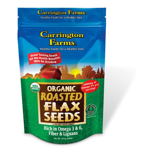 "<p>Sprinkle this over your yogurt or cereal. This fiber-filled snack is full of vitamins and gluten free!</p> <p>$5.69, <a href=""http://www.carringtonfarms.com/buy-carrington-farms-products/"" target=""_blank"">CarringtonFarms.com</a></p>"