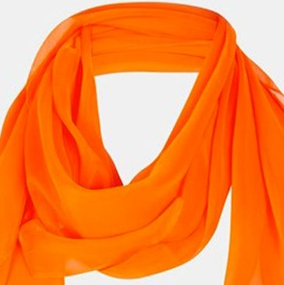 <p>Sometimes you just need a little bit of color to brighten things up. This Topshop chiffon scarf is sure to be great as we head into the fall. Pair with some skinnies and ankle boots.</p>