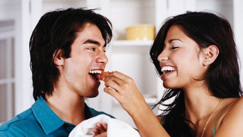 <p>Invite him over for dinner. If you live together, surprise him with one when he comes home from work. Be sure to load your spices with proven natural aphrodisiacs. Some of our favorites are avocados, chiles and passion fruit. </p>