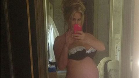 <p>Earlier this week, the former <em>Real Housewife of Atlanta</em> got all dressed up in French lace lingerie set and tweeted a pic of her most recent bump. We say recent, because Fertile Myrtle already has, like, seven babies under eighteen months with her husband, Atlanta Falcons baller Kroy Biermann.</p>