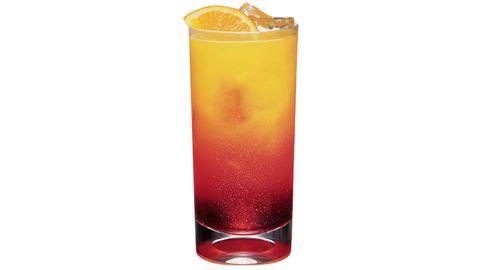 <i>1 oz. Pucker Raspberry Rave Vodka<br /> ¾ oz. Cruzan Mango Rum<br /> 3 oz. pineapple juice<br /> 2 oz. cranberry juice<br /> Garnish: lemon wedge</i><br /><br />  Combine all ingredients a glass filled with ice. Stir and garnish with a lemon wedge.  <br /><br /><i>Source: Pucker Vodka</i>
