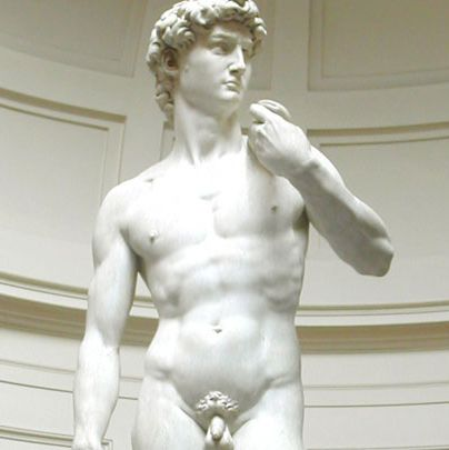 <p>Undisputedly the most famous male nude in art history, Michelangelo's masterpiece never fails to remind us that, yes, some guys actually <em>do</em> look better in the buff.</p>