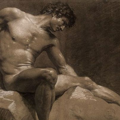<p>Not the sexiest name for a nude work of art ever, but French artist Jean-Baptiste Isabey seemed to care more about sketching every glistening inch of the male body than giving his charcoal masterpieces cool titles. And we thank him for that.</p>