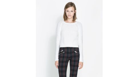 Clothing, Product, Sleeve, Trousers, Collar, Shoulder, Textile, Standing, Denim, White,
